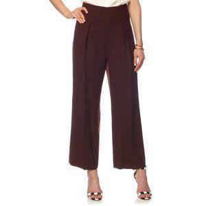3.1 PHILLIP LIM Wool Wide-Leg Purple Trousers 10